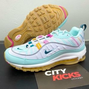 Nike Air Max 98 Women's Shoes Teal Pink White
